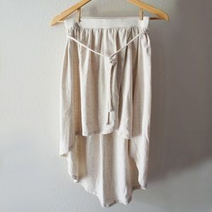 Old Navy Girl's Oatmeal Heather Hi Lo Jersey Skirt